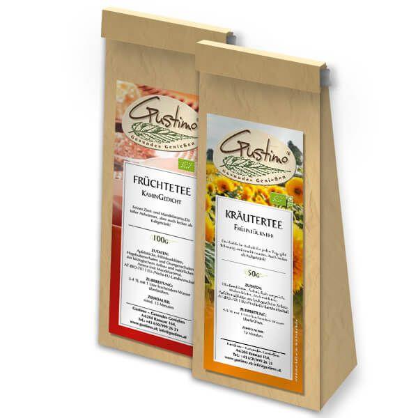Aufkleber Design für Teeverpackung
