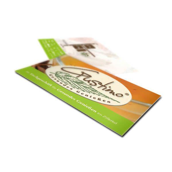 Visitenkarten für Gustimo Tee Onlineshop