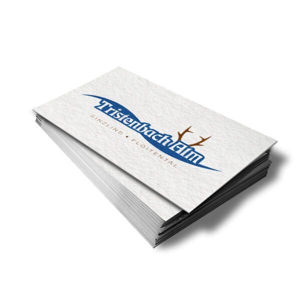 neue Visitenkarten für die Tristenbachalm