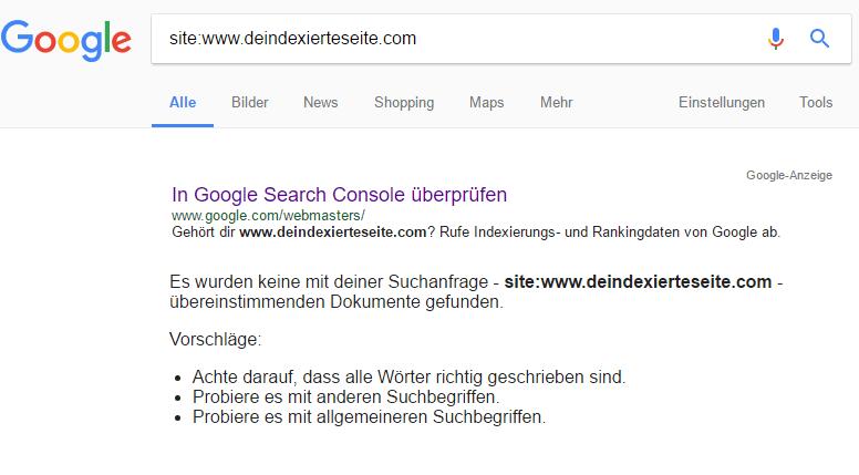 Deindexierung Google