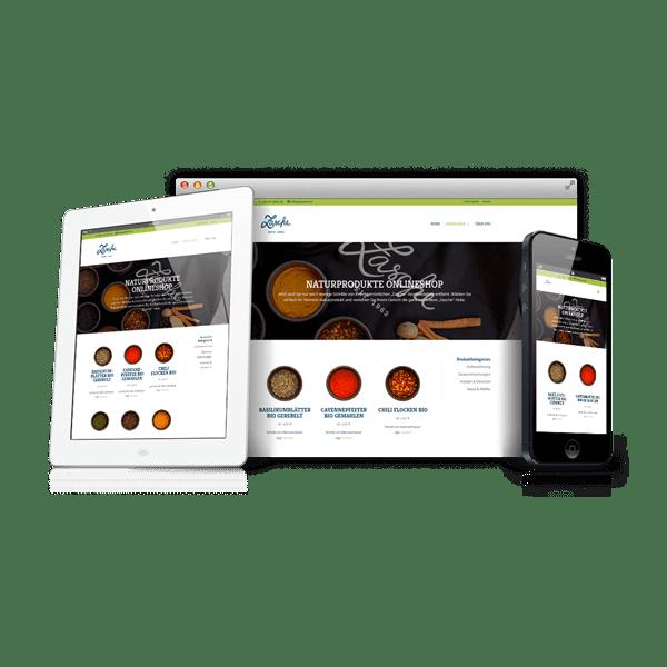 Webdesign für Zasche Naturprodukte in Lans in Tirol